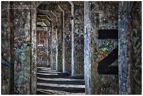 photograph of graffiti underground in Philadelphia