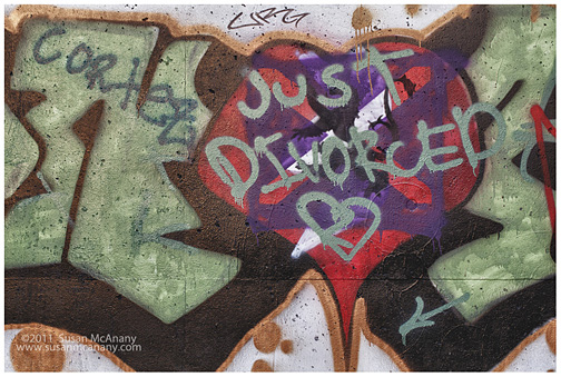 just divorced graffiti art photograph