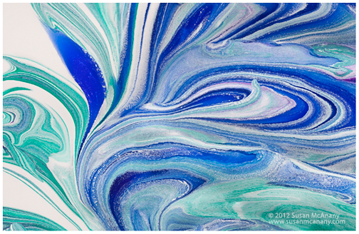 abstract photograph of blue swirls