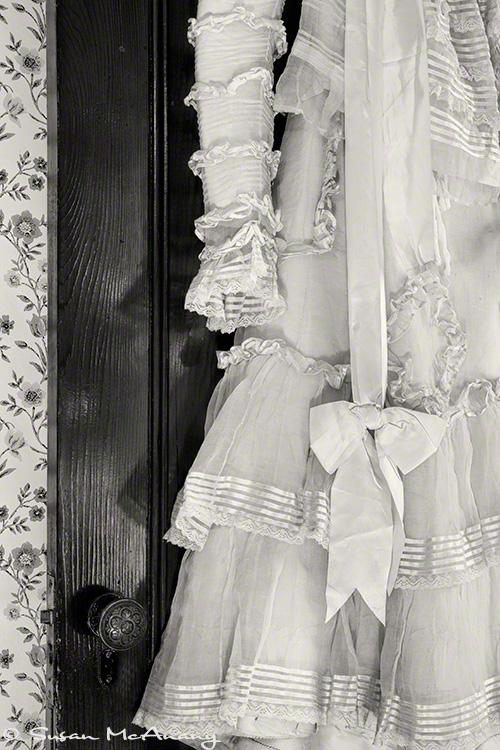 wedding dress black and white art print