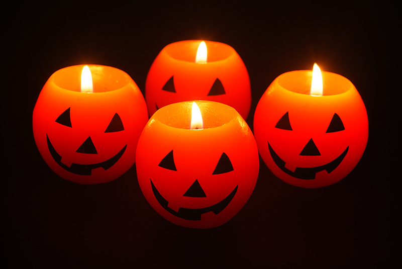 halloween candle photograph