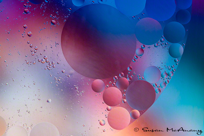 Hermine inspired blue abstract art photograph