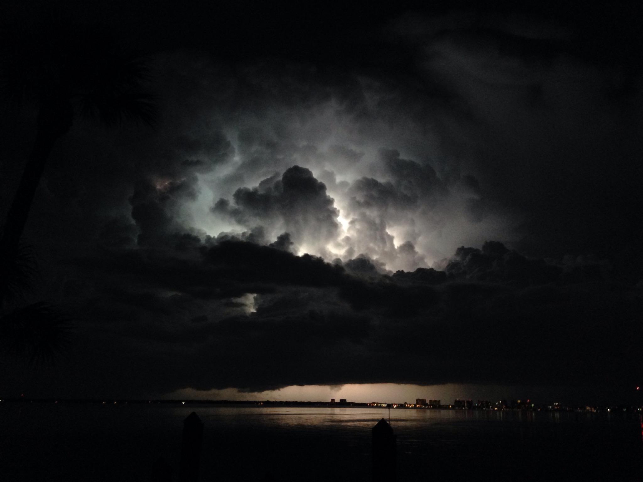 lightning storm sarsota, fl