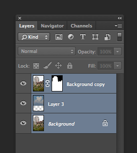 Photoshop Layers Selected